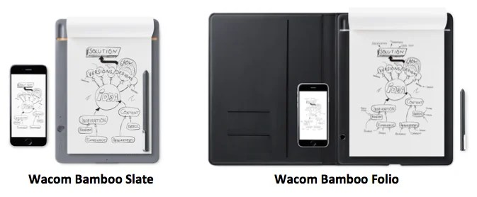 Wacom Unveils The Newest Additions To Its Bamboo Family Of Smartpads: Bamboo Slate and Bamboo Folio