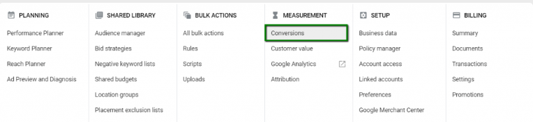 Tracking multiple events in Google Ads