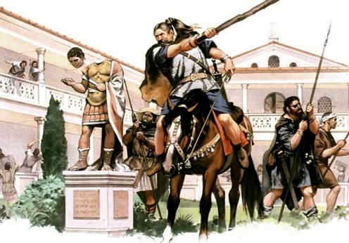 Barbarii calomniati de catre Roma