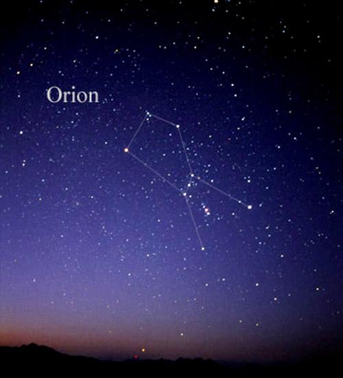 Obiecte necunoscute în constelaţia Orion