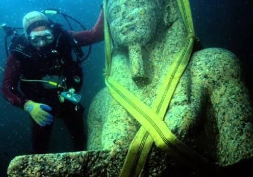 S-a crezut că oraşul egiptean Heracleion a fost un mit, ca şi Atlantida