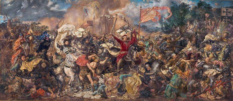 Bătălia de la Grunwald, pictură de Jan Matejko, sursa Wikipedia.