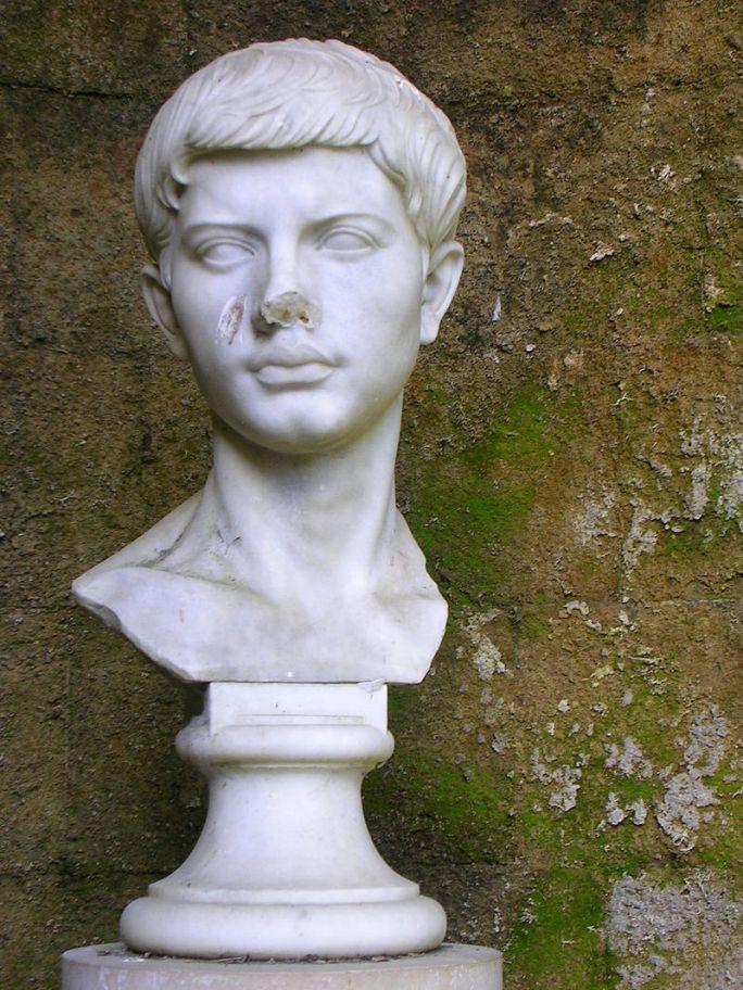 Bustul lui Vergilius, Napoli, Italia. Foto de A. Hunter Wright, sursă Wikipedia.