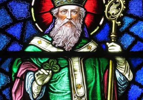 Saint_Patrick_Catholic_Church_(Junction_City,_Ohio)_-_stained_glass,_Saint_Patrick_-_detail