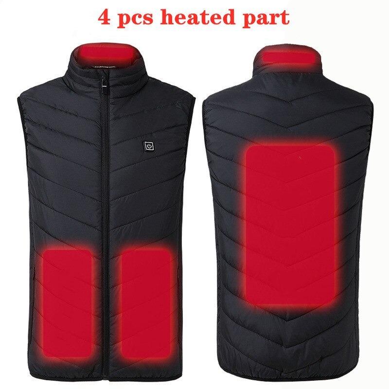 Black 4 Pcs Heated