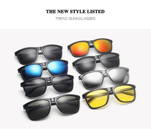VEITHDIA New Design Aluminum Magnesium Men Polarized Sunglasses