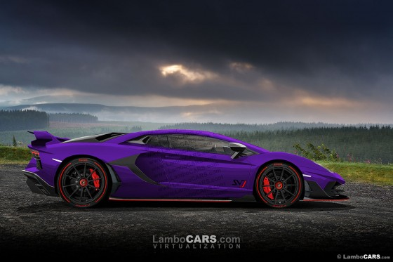 Viola Parsifea is a very special shade that would look great on the 2019 Aventador SVJ