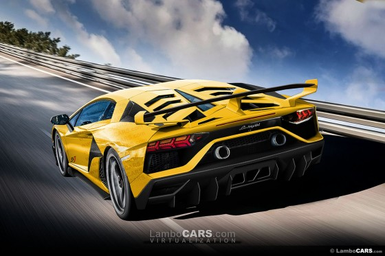 The new engine cover on the Lamborghini Aventador SVJ could have a small glass panel showing the engine
