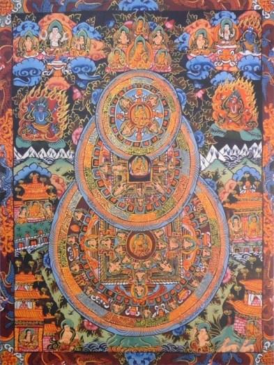 Потрійна мандала - сакральний символ, що використовується при медитаціях в буддизмі