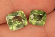 wow 2 pieces lot of peridot gemstone