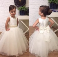 Pretty Little Girls Communion Dresses White Ivory Flower ...