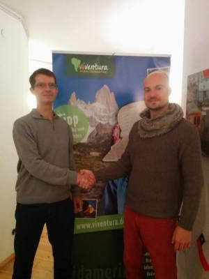 Sven Probst und ich bei der Preisübergabe