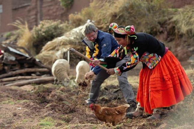 viventura Reisende schlafen auf der Halbinsel Capachica bei Gastfamilien.