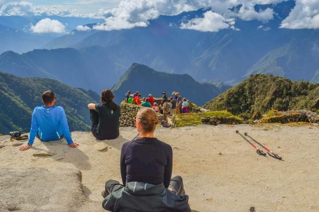 Bis zu den traumhaften Aussichten nahe Machu Picchu ist es für viele ein steiler und anstrengender Weg.