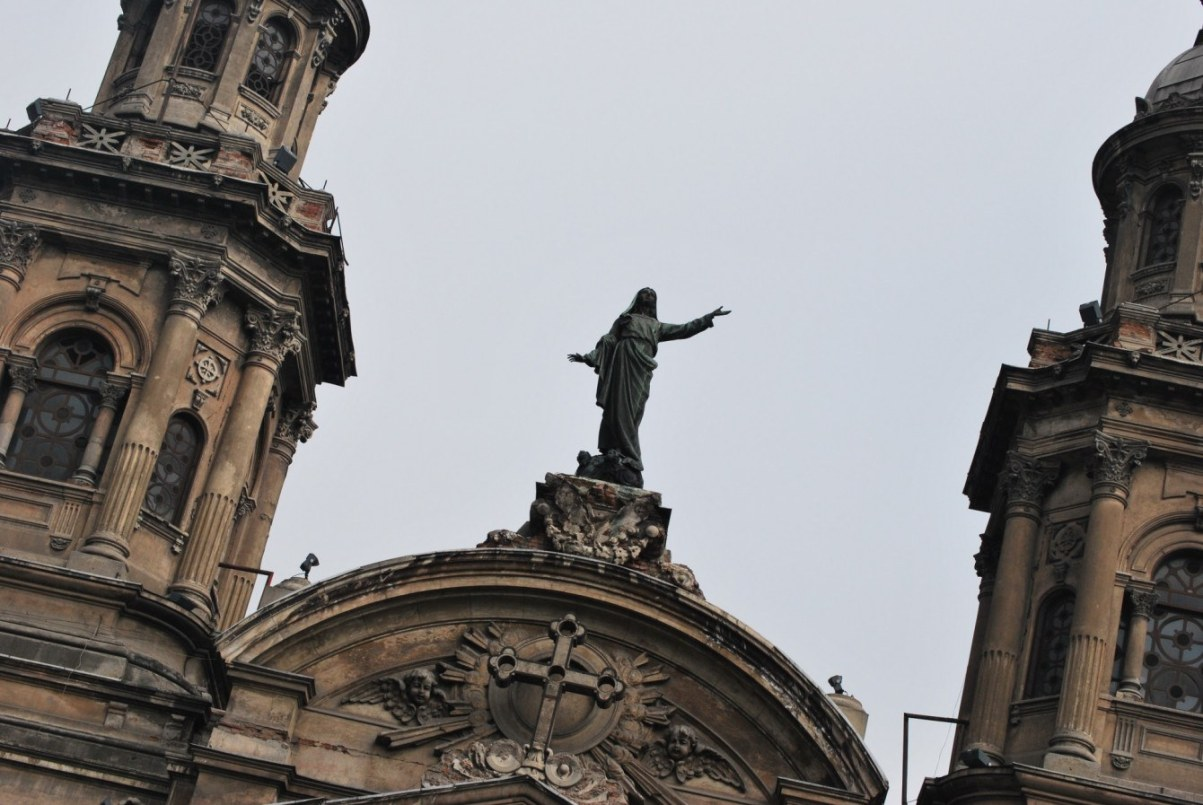 Santiago de Chile Sehenswürdigkeiten: Catedral. Quelle: Wikimedia Commons.
