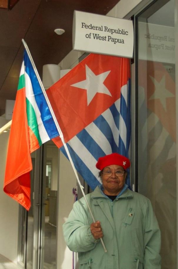 Guarding the office, Petronella Yawan, 23 June 2014