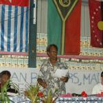 008. Chief Shem Rarua (Spokesperson, Maraki Vanuariki Council of Chiefs), Organising the agenda of the summit.