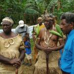 017. Maraki Vanuariki Council of Chiefs preparing to meet delegation from West Papua