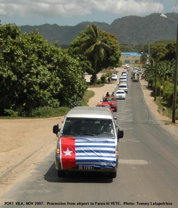 Procession from airport to Farea ki VETE