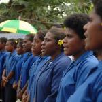 022. Tongoa Island Community Choir welcoming West Papua delegation to Farea ki Vete