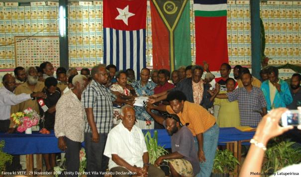 Unity Day Declaration, 29 November 2007