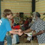 052. Gift Exchange. Chief David, Jack and Kieran Byrne