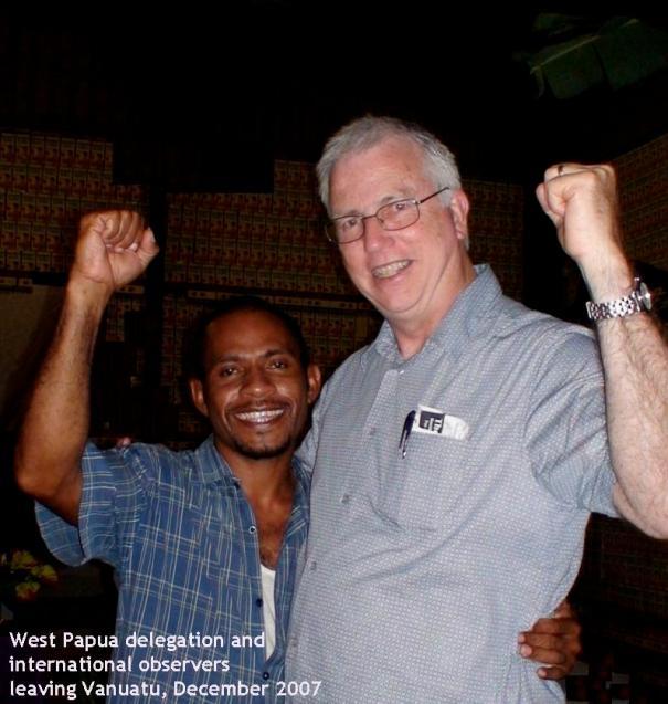 West Papua delegation and international observers leaving Port Vila