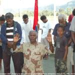 062. Praying at the airport, after departure of West Papua delegation
