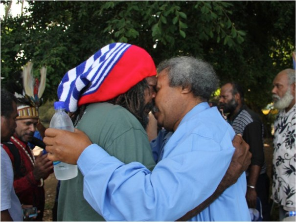 Peace-making Ritual for West Papuans at Fatumaru Bay  1 December 2014 (Vanuatu's 'West Papua National Day')