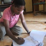 Signing the petition, West Papua, 1