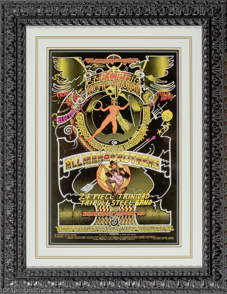 framed the allman brothers band classic rock concert poster davidson fine art 727 827 1888