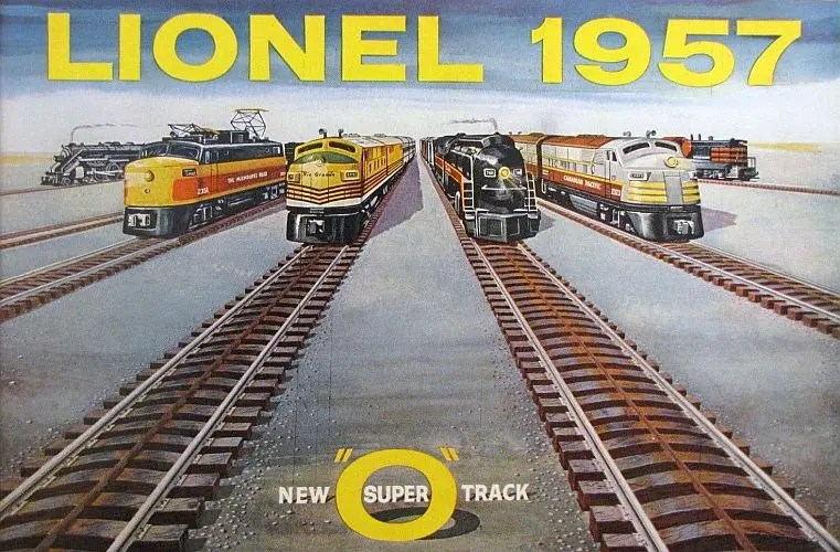 The 1957 catalog featured Lionel Super O track