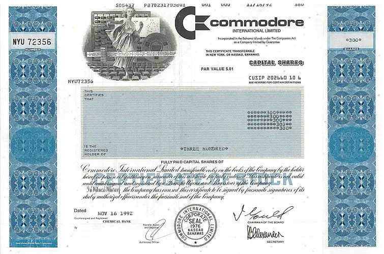 Commodore was more than a stock scam