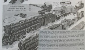 Allstate electric train 1956