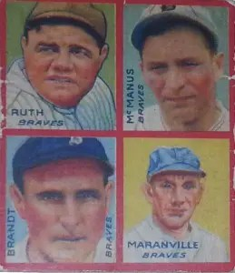 cheap Babe Ruth baseball cards