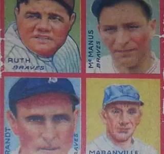 Cheap Babe Ruth baseball cards