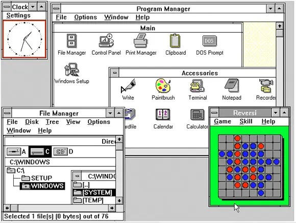 Advantages and disadvantages of Windows 3.0