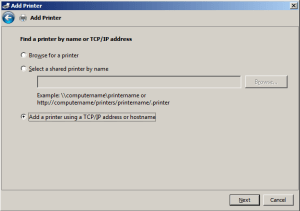DD-WRT USB print server step 4 Win7