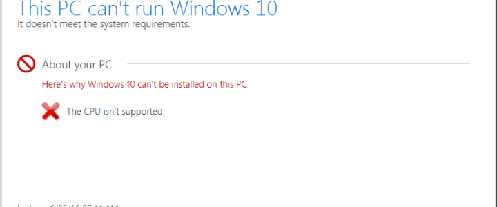 0xc1900201 error installing Windows 10