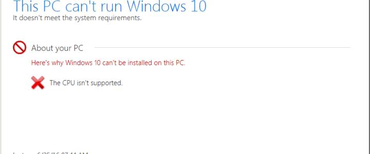 0xc1900201 error installing Windows 10