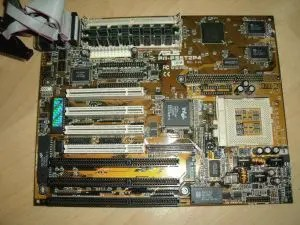 PS/2 vs PC motherboard - PC/AT motherboard by Asus