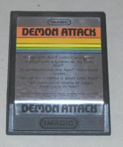 Demon Attack game cartridge for Atari 2600