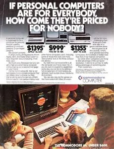 Commodore 64 vs IBM PC: The biggest contrast was the price.