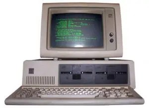 The IBM PC, in its standard early 1980s configuration