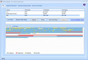 The benefits of defragmenting are clear after boot-time defrag