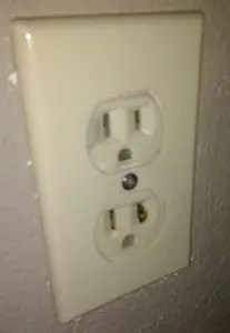 Prong stuck in electrical outlet
