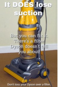 If your Dyson loses suction, or gets really loud, you can fix it by replacing some inexpensive parts. There's no need to spend hundreds of dollars replacing it.