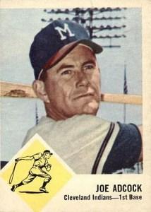 most valuable Fleer baseball cards - 1963 Joe Adcock