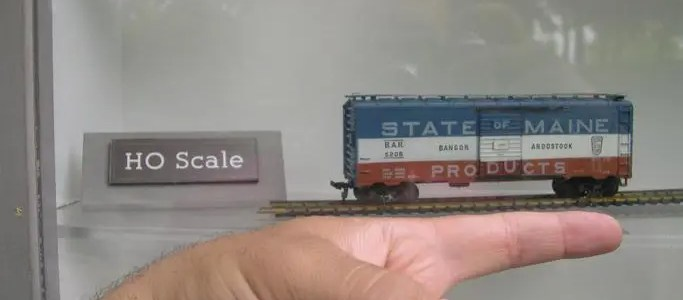 Sizes of model trains or model train scales