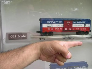 sizes of model trains: O scale